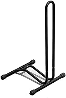 Jdeepued Kickstands Black Color Bicycle Parking Rack Mountain Bike Kickstand Display Stand Bicycle Parking Station Plug-in Maintenance Frame L-Shaped Frame Black Bicycle Accessories