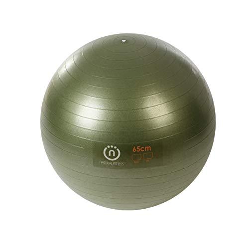 Natural Fitness Pro Burst Resistant Exercise Ball (Olive, 65-cm/Medium...