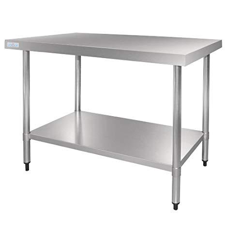 Vogue Table en acier inoxydable 900 x 1800 x 700 mm