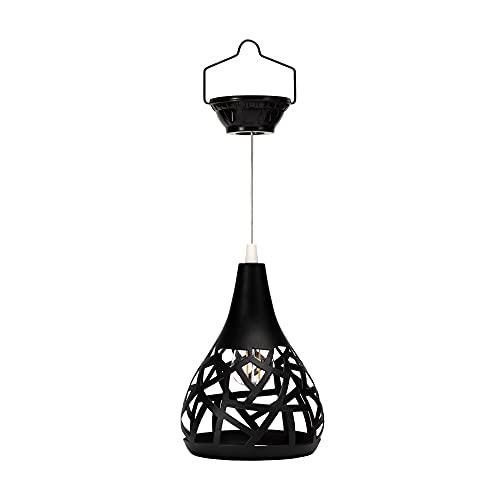 Pauleen Sunshine Magic 48170 - Péndulo solar para balcón o jardín, color negro, iluminación exterior de metal, 2700 K
