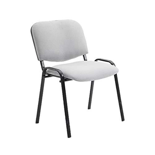 ChenB Student Stoel, Thicken Slijtvaste Baliestoel Office Meeting Room stapelbare stoel Durable gemakkelijk schoon te maken Personeel Chair meer comfort (Color : Gray)