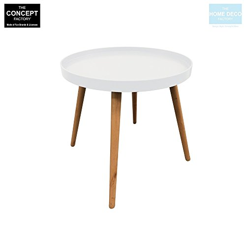 marque The concept Factory Table Basse Blanche avec Plateau Rond