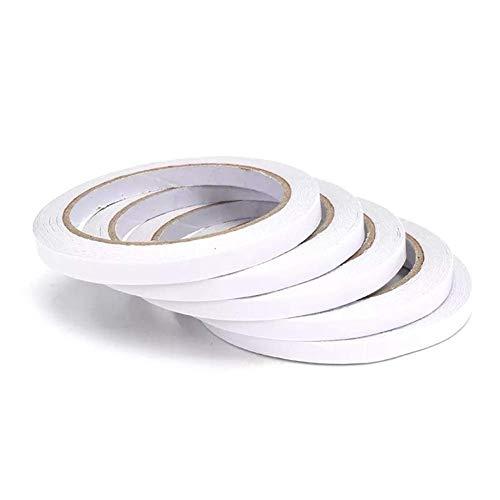 IGOSAIT Doble cara Super fuerte Cinta adhesiva Roll Office Withing Tape de doble cara 5pcs 7mm × 20m cinta
