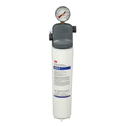 3M Water Filtration Products System for Commercial Ice Maker Machines ICE120-S, High Flow Series, Reduces Sediment, Chlorine Taste and Odor, Cysts, Inhibits Scale, 1.5 GPM, 9,000 Gallon Capacity
