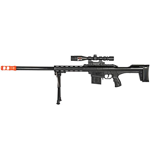 BBTac Airsoft Sniper Rifle Gun - Powerful Spring Loaded Easy to use, Great for Starter Pack Game Play