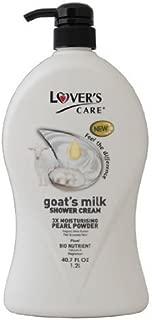 Lover's care goat's milk shower cream 40.7 oz (1200ml) -Pearl Powder plus Bio Nutrient