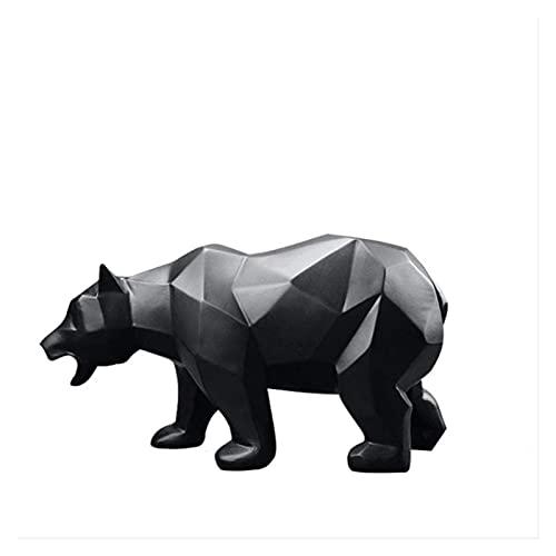 YANRUI Geométrico Animal Salvaje Oso Estatua Modelo Masculino Oso Negro Escultura Accesorios caseros Oficina Oficina decoración de Escritorio estatuillas Animales Regalos