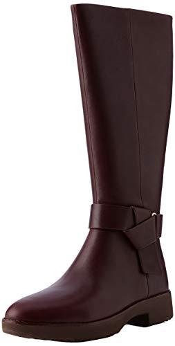 Fitflop Damen Knot Leder Stiefel, Rot Lingonberry 744, 36 EU