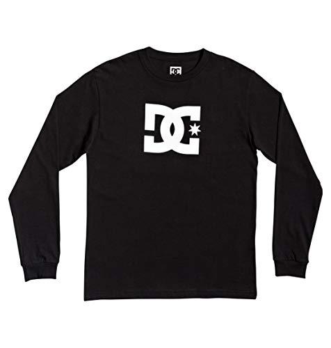 DC Shoes Star - Camiseta De Manga Larga para Niños 8-16 Camiseta De Manga Larga, Niños, Black, 16/XL