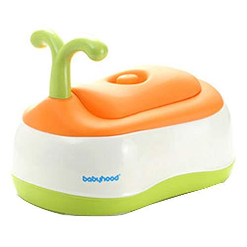 Toilettes pour enfants, Pot bébé, 1-6 ans, Toilettes multifonctions Step BabyYZRCRK (Couleur : Orange)