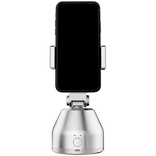 TOOGOO Palo de Selfie Inteligente PortáTil, RotacióN de 360 °, Seguimiento AutomáTico de Objetos, CáMara, Soporte para TríPode, Soporte Inteligente para TeléFono Celular (Blanco)