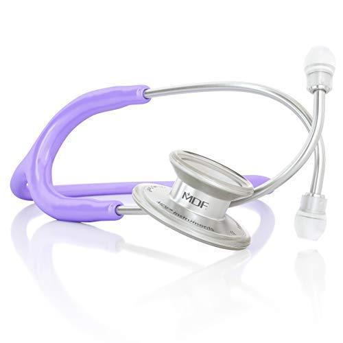 MDF® MD One® Epoch Estetoscopio Titanio - Garantía de por vida & Programa-piezas-gratuitas-de-por-vida (MDF777DT-07) (Morado Pastel)