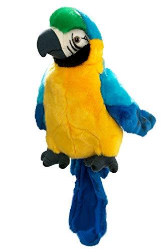 Carl Dick Peluche - Loro marioneta de Mano (Felpa, 25cm) [Juguete] 2430