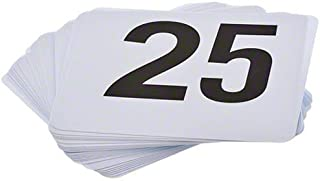 ROY TN 1 25 -Royal Industries Number 1-25 Plastic Number Card Set, Plastic, 4'' by 4'', White Base with Black Numbers