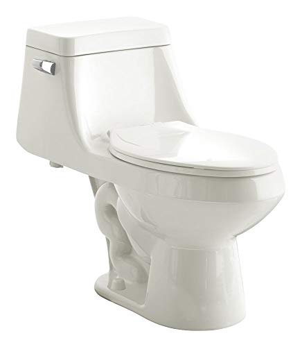 American Standard 2862056.020 Fairfield 1.6 GPF One-Piece Elongated Toilet with Seat and 12-In Rough-In, 30.875 in Wide x 18.875 in Tall x 26.625 in Deep, White