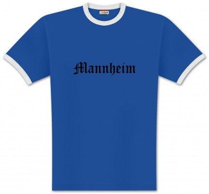 World of Football Ringer T-Shirt Old Mannheim - XL