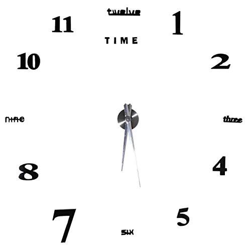 Weikeya Reloj de pared, adhesivo de pared – 0,8 ~ +1,2 segundos/día de aleación + Eva/acrílico hecho para el hogar oficina habitación