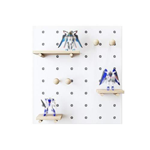 YLCJ boekenkast Float massief hout eenvoudige en moderne wandplanken planken decoratieve frames wit Een verscheidenheid aan specificaties beschikbaar (grootte: wit 60 * 120 * 14 cm)