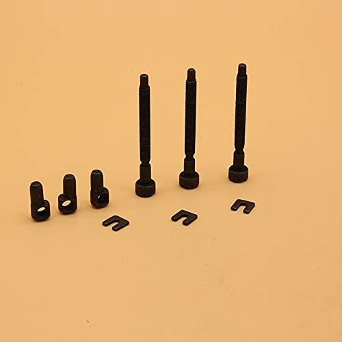 3 unids/lote Ajustador de cadena Tensor Tornillo Piezas de repuesto para Husqvarna 61 66 266 268 272 281 288 162 181 281XP 537101 piezas de motosierra de gas