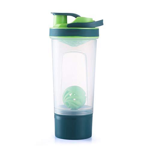 Youzhishui Agitatore di proteine 720ml Bottiglia di Acqua Portatile in plastica Palestra Esterna Sport Fitness Training Drink Polvere Latte Mixer My Water Bottle,Verde