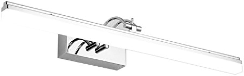 European Style Simple Badezimmer LED Spiegel Frontleuchte, Wandleuchte, wasserdicht Anti-Fog ( Farbe   Weies Licht-59CM14W )