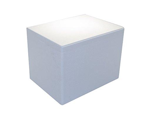 Tropic-Shop Styroporkisten | Styroporbox | Thermobox 40x30x30cm - Warmhaltebox - Kühlbox für Getränke/Lebendsmittel