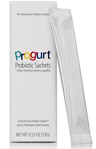 Progurt Probiotic. 1 Trillion CFU. Beneficial Human Probiotic Isolates - HPI (5 Pack) | Soothing & Super-Strength | Shelf Stable for Travel | Vegan | No Lactose. No Soy. Gluten Free.