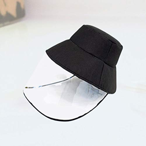 EXCEART 1 Piezas Cubierta Transparente de La Cara Cubierta a Prueba de Polvo Gorra con Visera Sombrero Protección Facial Completa Máscara de Seguridad para Hombres Al Aire Libre Dama