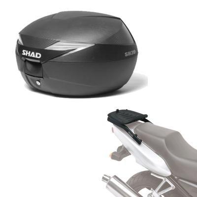 Sh39he16 - Kit fijacion y Maleta baul Trasero sh39 Compatible con Yamaha t-MAX 530 17 Yamaha t-MAX 530 2017-2017