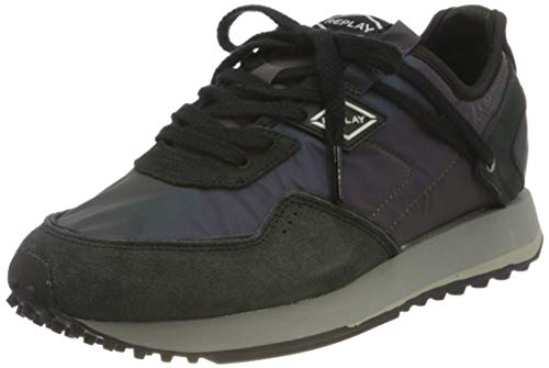 Replay Damen Drum Overnight W Sneaker, Schwarz (1733 Multi Black), 39 EU