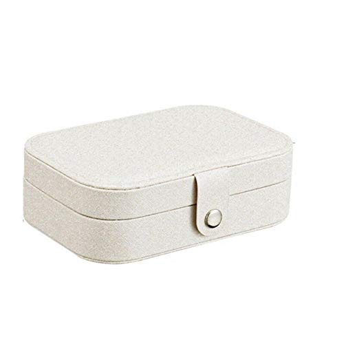 Travel Jewelry Box,Portable Storage Case Organizer for Earring Necklace ,White
