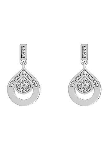 JETTE Silver Damen-Ohrhänger 925er Silber Perlmutt One Size 87903231