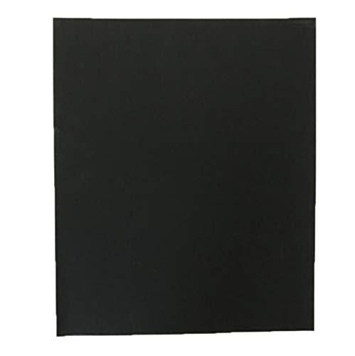 Schleifpapier (100 Stück) trocken und nass Mischung 60 mesh bis 2000 mesh Wasserschleifpapier, Metall Auto Siliziumkarbid Wasserschleifpapier (Color : Black, Size : 60)