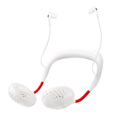 Ventilador de cuello USB HUWAI-F, portátil, ventilador USB, silencioso, mini ventilador de cuello con Bluetooth, ventilador de cuello, ventilador portátil para exteriores