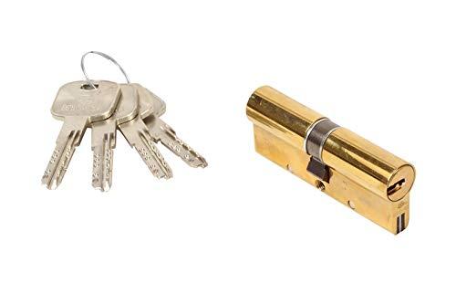 Bricard Mistral S 1779 Schließzylinder, poliertes Messing, 12 Kolben, 2 Eingänge 80 = 40+40 Schutz gegen die Nachbildung des Schlüssels Casse, Torsion und Bohren Widerstand