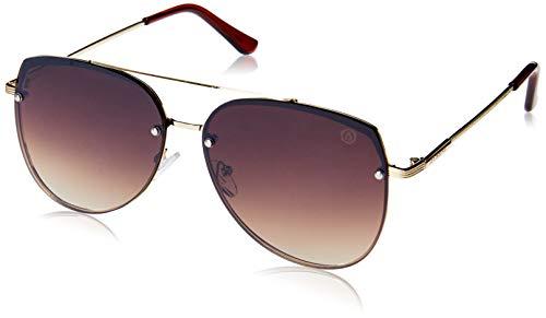 Óculos de Sol Concorde, Les Bains, Aviador, Unissex, Ouro, Único