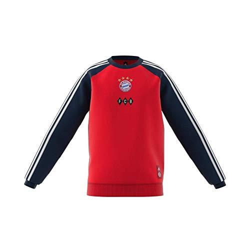 adidas Kinder Sweatshirt Fc Bayern Crew Sweat, Fcbtru/Conavy/White, 140, FR3959