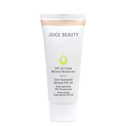 Juice Beauty SPF 30 Mineral Sunscreen, Tinted Moisturizer with Vitamin E, Sand, juice, 2 Fl Oz