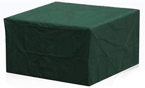 Cubiertas De Muebles De Jardín Impermeable, Patio Muebles Cubierta Rectángulo, Protección UV Sofá De Mesa Al Aire Libre Liviana Transpirable, Verde (Talla : 126x126x74cm)
