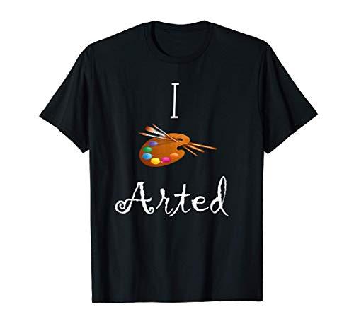 I Arted Acuarela Paleta Artista Regalo Camiseta