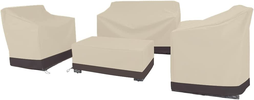 4 Piece Omaha Mall Outdoor Patio Ranking TOP3 Furniture Heavy Cover Waterproof Set Duty