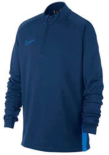 Nike Jungen B NK Dry ACDMY DRIL TOP Long Sleeved T-Shirt, Coastal Blue/lt Photo Blue, XL