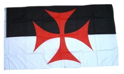 Flaggenking Kreuzritter Templer Kreuz Flaggen/Fahnen, Mehrfarbig, 150x90x1 cm