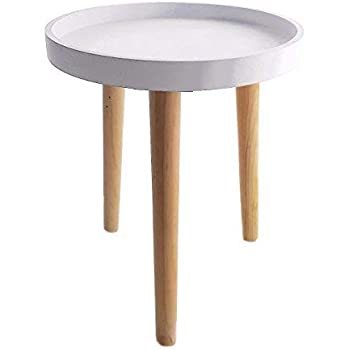 Decoración Mesa de madera 36 x 30 cm – Mesa auxiliar pequeña mesa ...