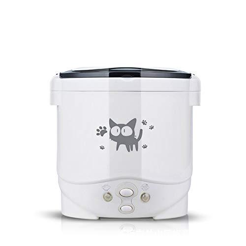 DIOI rijstkoker, 1 liter, elektrisch, Mini Rice Cooker, multifunctioneel, draagbaar, te gebruiken in huis, 220 V of auto, 12 V, vrachtwagen 24 V, gebruikt als lunchbox