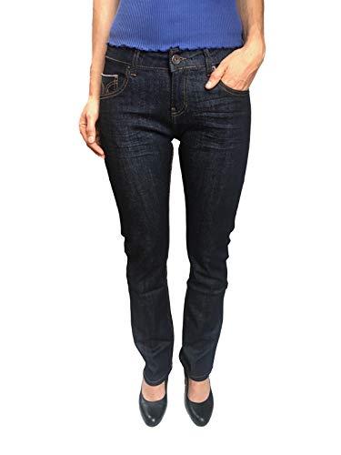 Damen Jeans, ATT, Stella, 11051-3500/258, Straight Cut, Dark Blue, Gr.W36/34