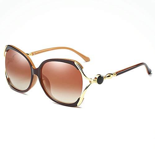 XFSE Gafas de Sol Mariposa Hueca Marco Grande Gafas De Sol Polarizadas Cuadradas for Mujeres Deportes Al Aire Libre Conducción Pesca Playa De Viaje UV Gafas De Sol Marco De Metal Protección UV400
