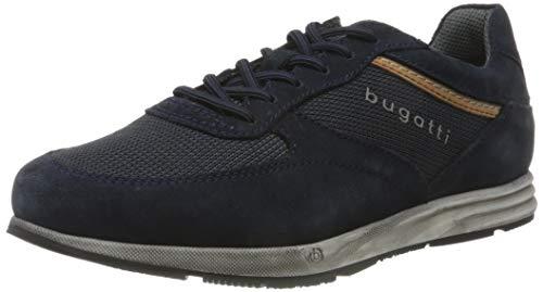 bugatti Herren 333213051469 Schnürer Sneaker , Dark Blue/ Dark Blue , 42 EU