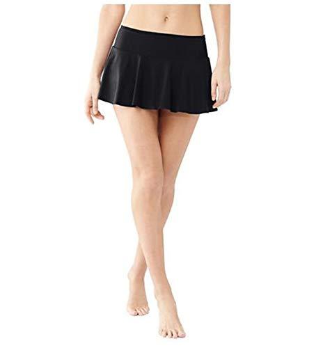 Elodiey Damen Badeshorts Bikini Rock Rock Strand Integrierter Hose Mit Business Hohe Taille Mini Bikinihosen Bottom Mit Short (Color : Schwarz, Size : XL)
