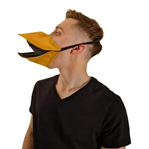 UFAVOR Funda para cara de animal de fiesta, hecha a mano, para hablar de pato, para abrir y cerrar cuando muevas la mandbula, mscara de adulto unisex, herramienta de cosplay para nios o nias
